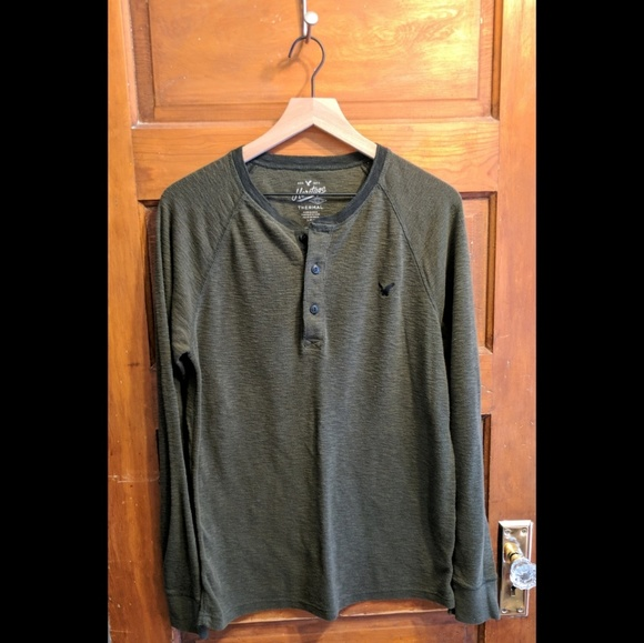 95c82b1f American Eagle Outfitters Other - American Eagle Heritage Men's Green Thermal  Henley